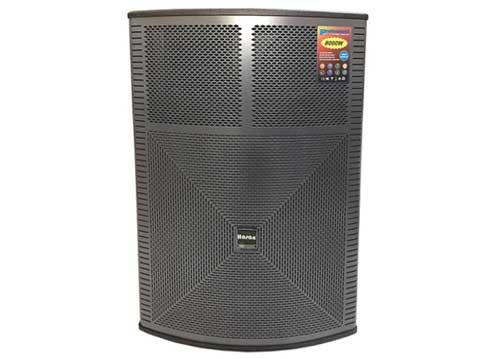 Loa kéo Hosan 18Y, loa karaoke bass 5 tấc, 2 micro UHF