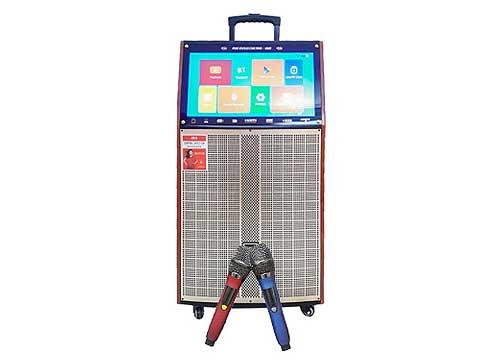 Loa kéo JBA RB-9215D, loa karaoke tích hợp màn hình LCD