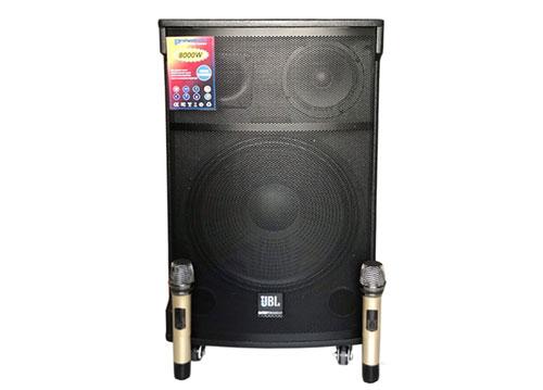 Loa kéo JBL DX-787, loa karaoke 3 đường tiếng, kèm 2 mic