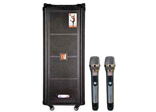 Loa kéo JBZ JB+0807, loa karaoke vỏ gỗ, bass đôi 2 tấc