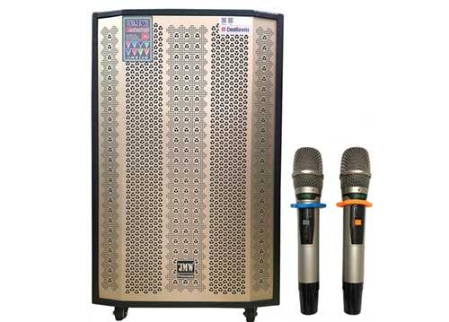 Loa kéo karaoke JMW J8000SA-01, loa vỏ gỗ - 5 đường tiếng