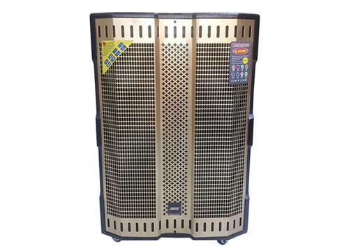Loa kéo karaoke T-9000, loa di động bass 5 tấc, vỏ gỗ