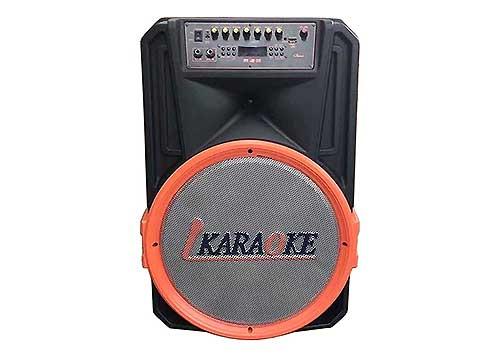 Loa kéo karaoke V-S1533, loa di động vỏ nhựa, bass 4 tấc