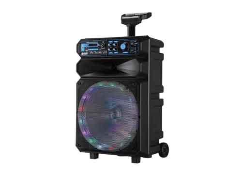 Loa kéo KImiso QS-1208, loa karaoke vỏ nhựa, bass 3 tấc