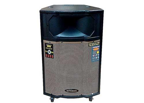 Loa kéo KingBass 1509, loa thùng karaoke di động, công suất đỉnh 500W