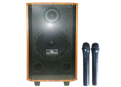 Loa kéo Kiomic K-88, loa karaoke bass 2.5 tấc, kèm 2 micro