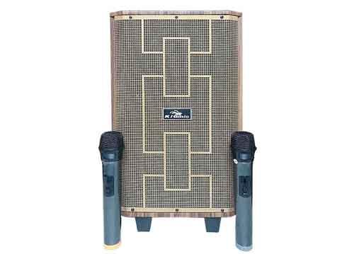 Loa kéo Kiomic K89, loa karaoke vỏ gỗ, bass 2 tấc- max 300W