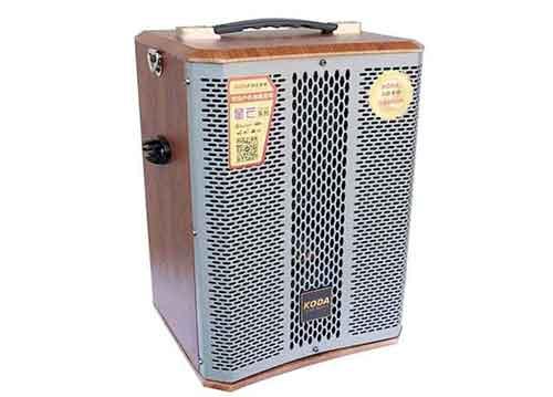 Loa kéo Koda KD-608, loa karaoke vỏ gỗ MDF, bass 1.5 tấc
