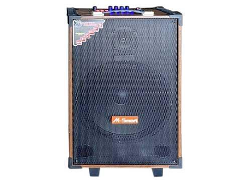 Loa kéo M-Smart MS-6012, loa hát karaoke vỏ gỗ, bass 3 tấc