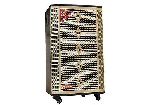 Loa kéo M-Smart MS-8015, loa karaoke bass 4 tấc, 2 micro