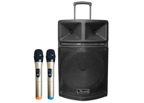 Loa kéo Microtek MTK-18, loa karaoke giá mềm, kèm 2 micro