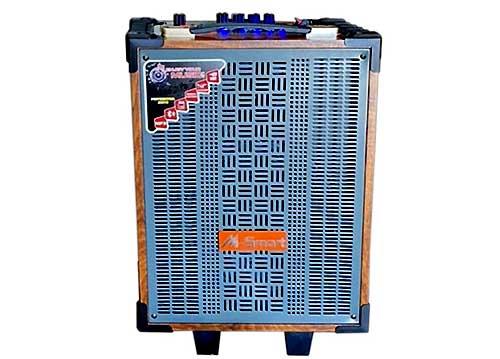 Loa kéo mini M-Smart MS-V08, loa karaoke vỏ gỗ bass 2 tấc