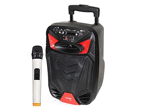Loa kéo Oris TO-588, loa karaoke vỏ nhựa 2.5 tấc + 1 micro
