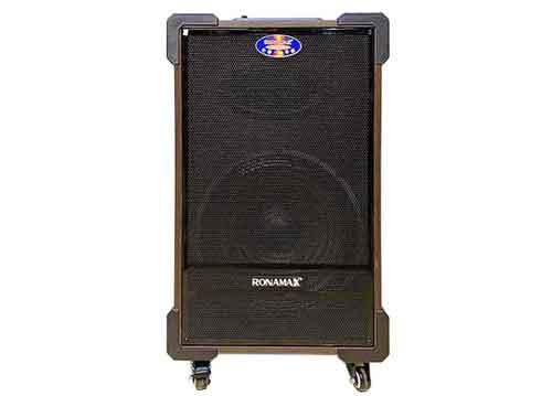 Loa kéo Ronamax MT12, loa karaoke thùng gỗ, PMPO 300W
