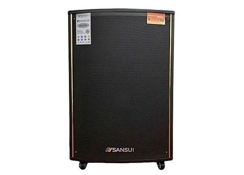 Loa kéo Sansui SA1-15W, loa karaoke vỏ gỗ 4.5 tấc, max 600W