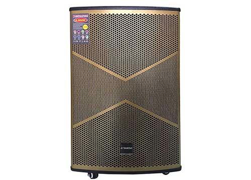 Loa kéo Sansui SG6-15, loa di động karaoke thùng gỗ 4.5 tấc
