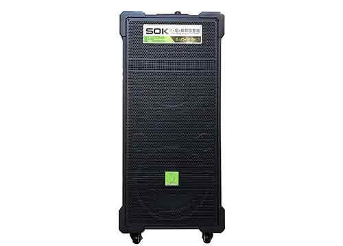 Loa kéo SOK NE707, loa hát karaoke 2 bass, thùng gỗ 3.5 tấc