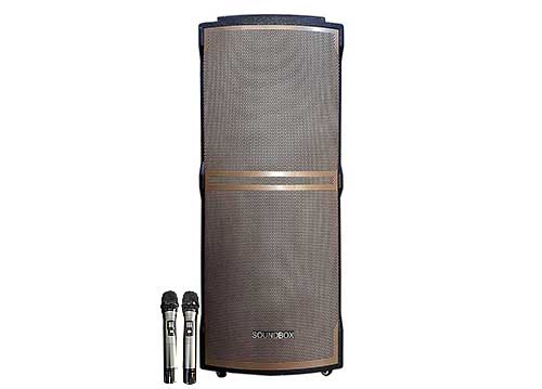Loa kéo Soundbox S122B, loa karaoke bass đôi, công suất max 1000W