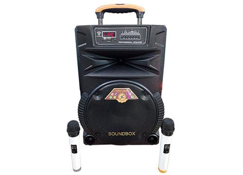 Loa kéo Soundbox SB-1205, loa karaoke 3.5 tấc, kèm 2 mic
