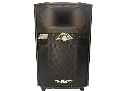 Loa kéo Temeisheng QX15-09, loa karaoke thùng gỗ, max 500W