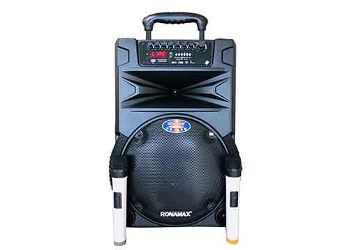 Loa kéo vali Ronamax N12, loa di động 3 tấc vỏ nhựa, max 300W
