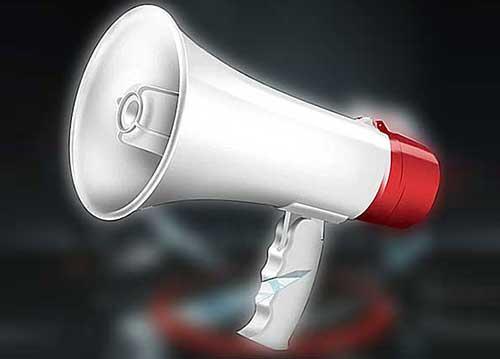 Loa phóng thanh HTY-687U, handheld megaphone có MP3, công suất 10W
