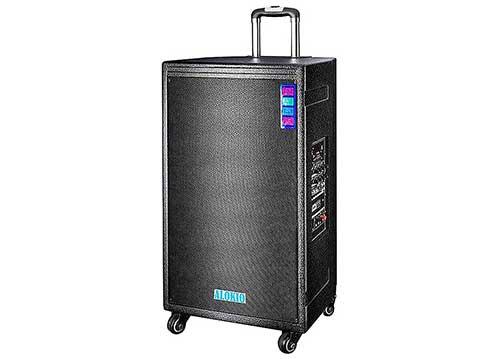 Loa vali kéo Alokio WML-K35, loa karaoke vỏ gỗ, công suất đỉnh 400W
