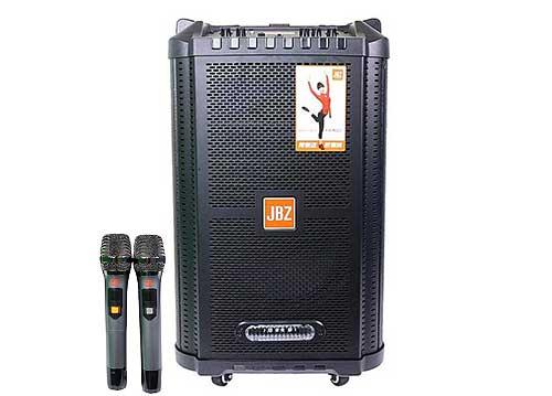 Loa vali kéo JBZ JB+1006, loa karaoke thùng gỗ, bass 2.5 tấc