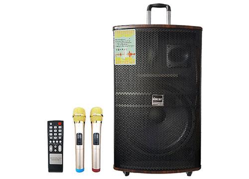 Loa vali kéo OSCAR SR15-20, loa karaoke vỏ gỗ, max đỉnh 800W