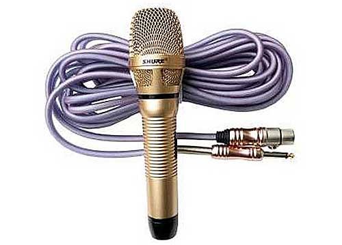 Micro có dây Shure UR-910, độ nhạy cao, hát nhẹ và chống hú tốt