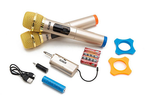 Micro không dây ALOKIO V11, mic dùng cho tất cả loa kéo