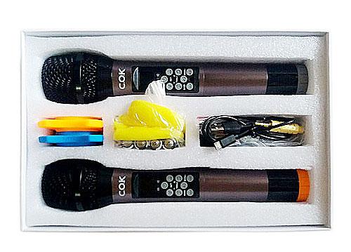 Micro không dây đa năng COK ST-213, chỉnh được treble-bass
