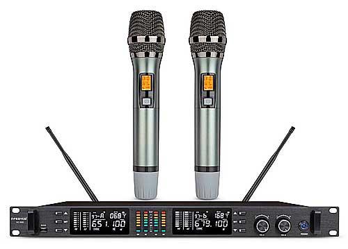Micro không dây FEDYCO MC-9000, mic karaoke có đầu thu lớn
