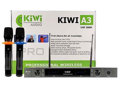 Micro không dây KIWI A3, khoảng cách kết nối 300 mét