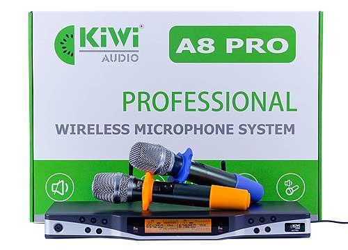 Micro không dây UHF Kiwi A8 Pro, thiết kế hiện đại đẹp mắt