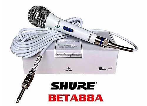Microphone có dây Shure Beta88A, mic chuyên dùng cho hát karaoke