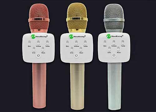 Microphone Karaoke Kèm Loa New Rixing NR-K9