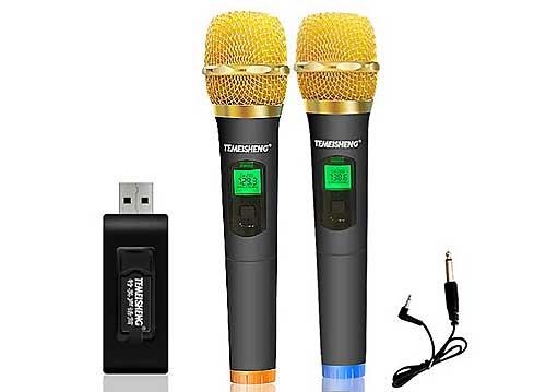 Microphone không dây đa năng W-48, mic dùng được cho tất cả loa kéo