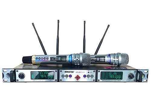 Microphone không dây Shure UR-29D plus, set được 200 tần số