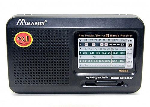 Radio 5 band Mason R2222, radio điện tử dạng bỏ túi