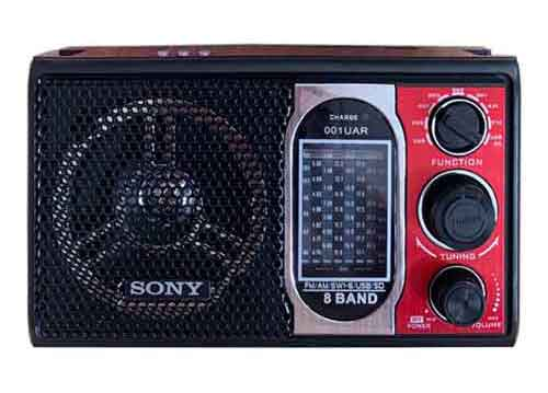 Radio Sony SW-001UAR, 8 band ( AM/FM/SW1-SW6)