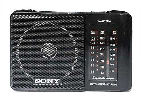 Radio SONY SW-602UAR, radio 4 band, nghe nhạc từ USB/SD