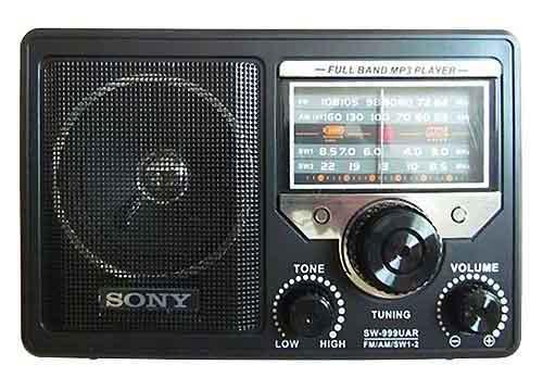 Radio SONY SW-999UAR 4 band, có chức năng nghe nhạc mp3
