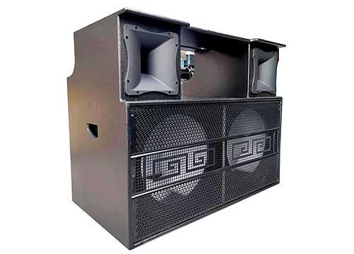 Thùng loa kéo điện di động - dạng tủ, 2 bass 4 tấc
