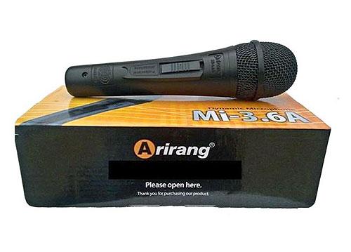 Microphone karaoke có dây Arirang Mi-3.6A