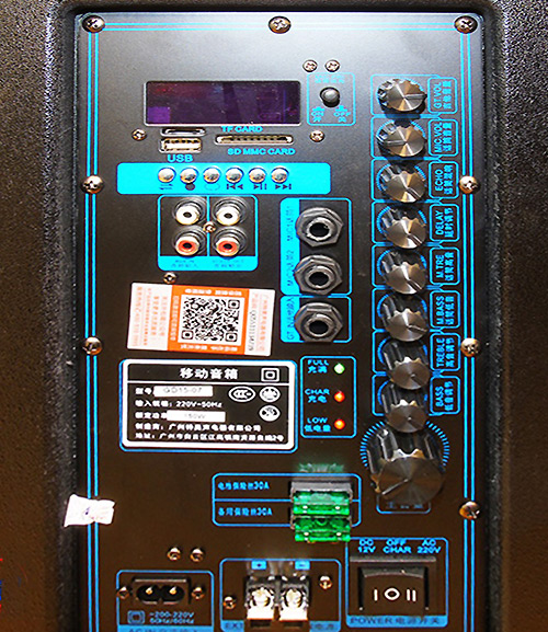 Loa di động Temeisheng GD12-06, loa kéo siêu bass, max 450W