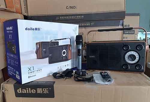 Loa karaoke bluetooth Daile X1, kèm 01 micro không dây