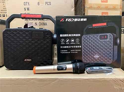 Loa karaoke bluetooth F&D R-19, công suất 25W, kèm 1 mic