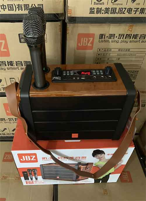 Loa karaoke bluetooth JBZ JB+0606, kèm 2 mic không dây