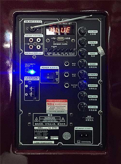 Loa karaoke kéo MBA SA-8701, công nghệ Mỹ